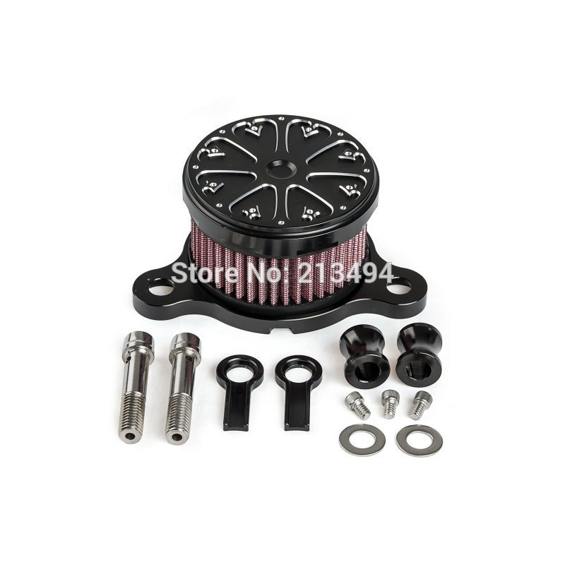 New Motorcycle Air Filter Cleaning Aluminum Boats For Harley Sportster XL 883 1200 2004-UP For Harley Davidson Davidson Part 1set motorcycle derby cover timing timer covers cnc aluminum for harley davidson xlh xl 883 883l 1200c 1200l sportster 883n iron