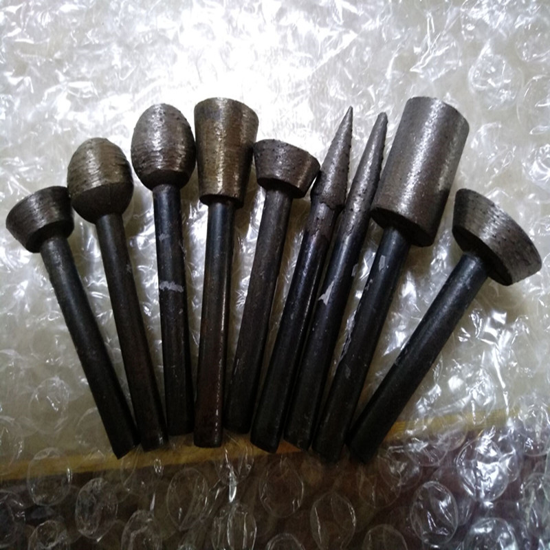 6mm Shank Diamond Carving And Grinding Head For Stone Carving And Grinding Used On The Electric Drilling Machine 9 Pieces A Set