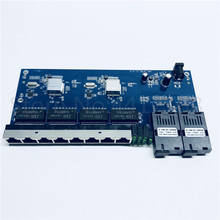 2g8e 1000m gigabit ethernet switch ethernet fibra óptica conversor de mídia único modo 8 rj45 utp e 2 sc placa do porto da fibra pcb