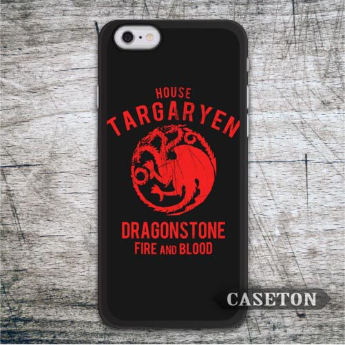 House Targaryen Game Of Throne Case For iPhone 7 6 6s Plus 5 5s SE 5c and For iPod 5 High Quality Classic Protective Cases