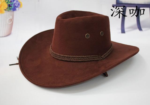 Hot Sale New Unisex fashion western cowboy hat tourist cap outdoor hat  western hat gorras freeshipping 38403806dc0