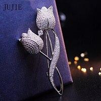 JUJIEแฟชั่นคริสตัลดอกไม้สำหรับผู้หญิงR Hinestone
