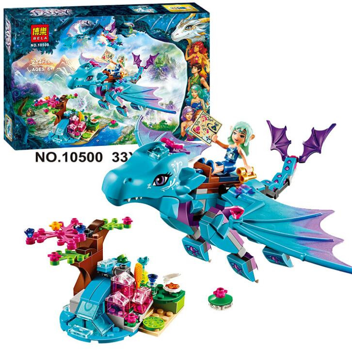214pcs/set Bela 10500 The Water Dragon Adventure Building Bricks Blocks DIY Educational Toys Compatible with toys chris wormell george and the dragon