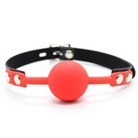 Adult games Restraints Solid Silicone Red Mouth Ball Gag With Lock Sex Products Toys For Couples Fetish Erotic Role Play Games