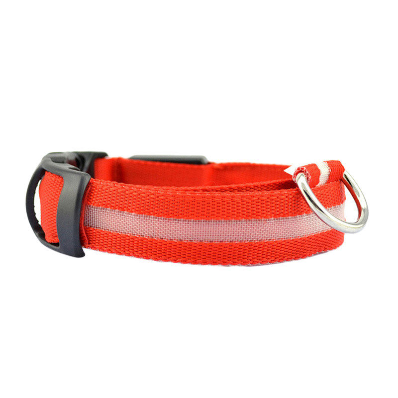 Fashion candy color LED Dog Collar Flashing In Dark Nylon 3 Mode Lighting Safety LED Pet Collar Wide Luminous Pet Products 9