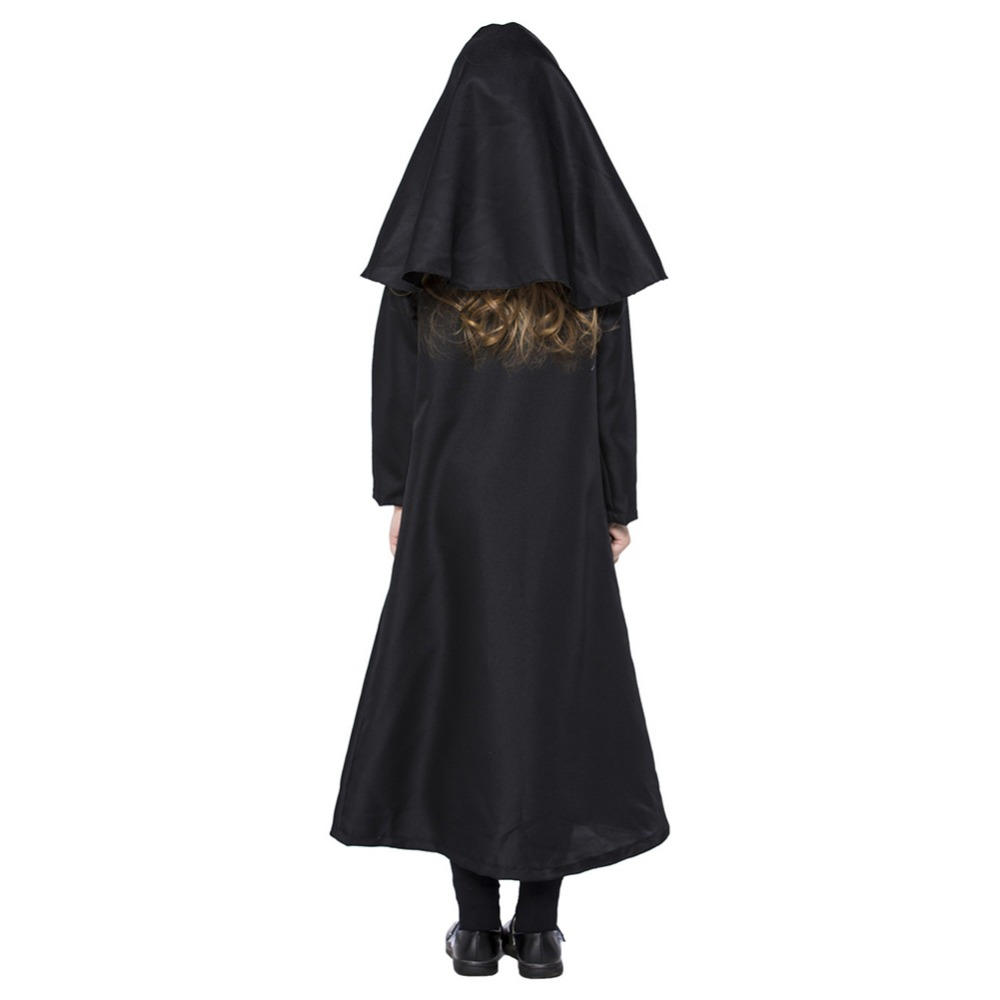 Black Hooded Gown Kids Costume