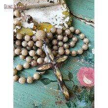 Бохо крест ювелирные изделия Уникальный Мода Заявление простой Gunblack припаянный крест кулон ручной узел ожерелье уникальный аксессуар NM14561