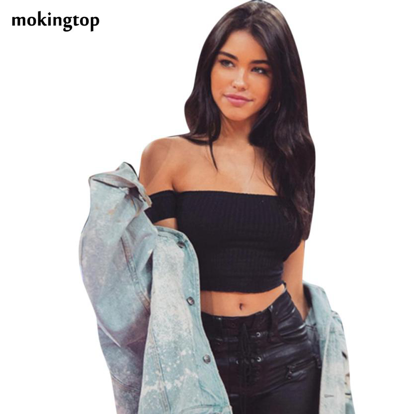7c886eeef3f Buy crop top off shoulder and get free shipping on AliExpress.com