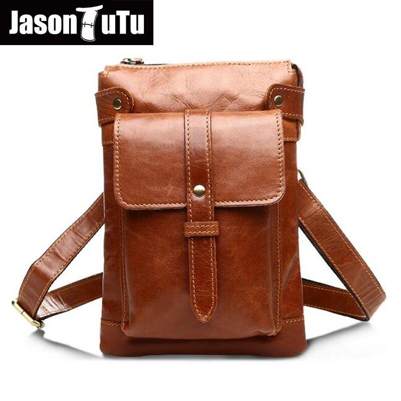 2017 New arrival Guarantee genuine leather men messenger bag casual business small shoulder bags JASON TUTU travel bags HN239