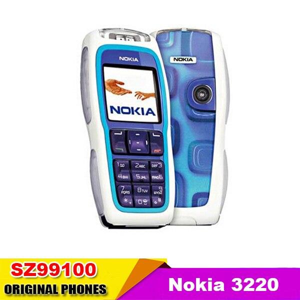 Цена за Горячие Продажи сотовый телефон Оригинальный Nokia 3220 Разблокирована GSM900/1800/1900 Дешевый Мобильный Телефон