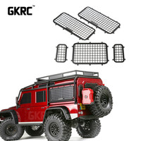 5pcs 1/10 Simulation Stainless Steel Metal Side & Rear Window Protective Net For Traxxas Trx 4 Trx4 Rc Crawler Car