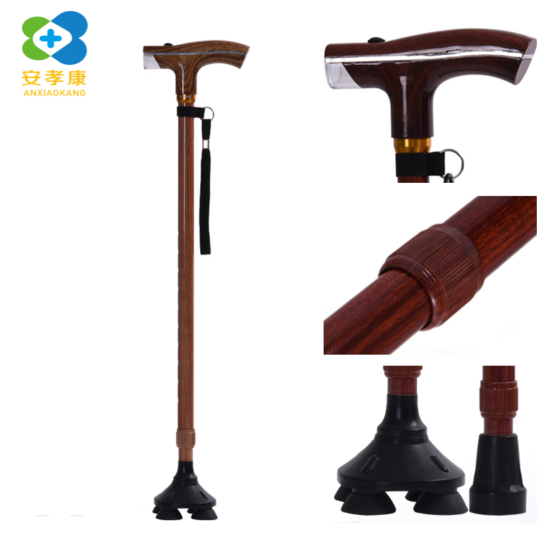 2d68f482478c US $16.94 49% OFF|ANXIAOKANG light wood grain old man walking stick height  adjustable outdoor men and women canes gift for the elderly r disabled-in  ...