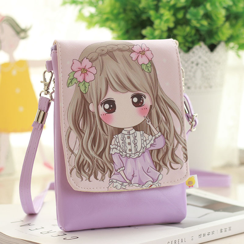 2018 New Cartoon Print Women Messenger Bags PU Leather Female Shoulder Bags Purse and Handbags Girls Children Mini Crossbody Bag women floral leather shoulder bag new 2017 girls clutch shoulder bags women satchel handbag women bolsa messenger bag