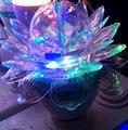 3 W E27 RGB Crystal bombilla LED luz de loto bulbos de flor 3 Watt lámparas del efecto de etapa KTV bares DJ Majic giratoria colorida iluminación CE