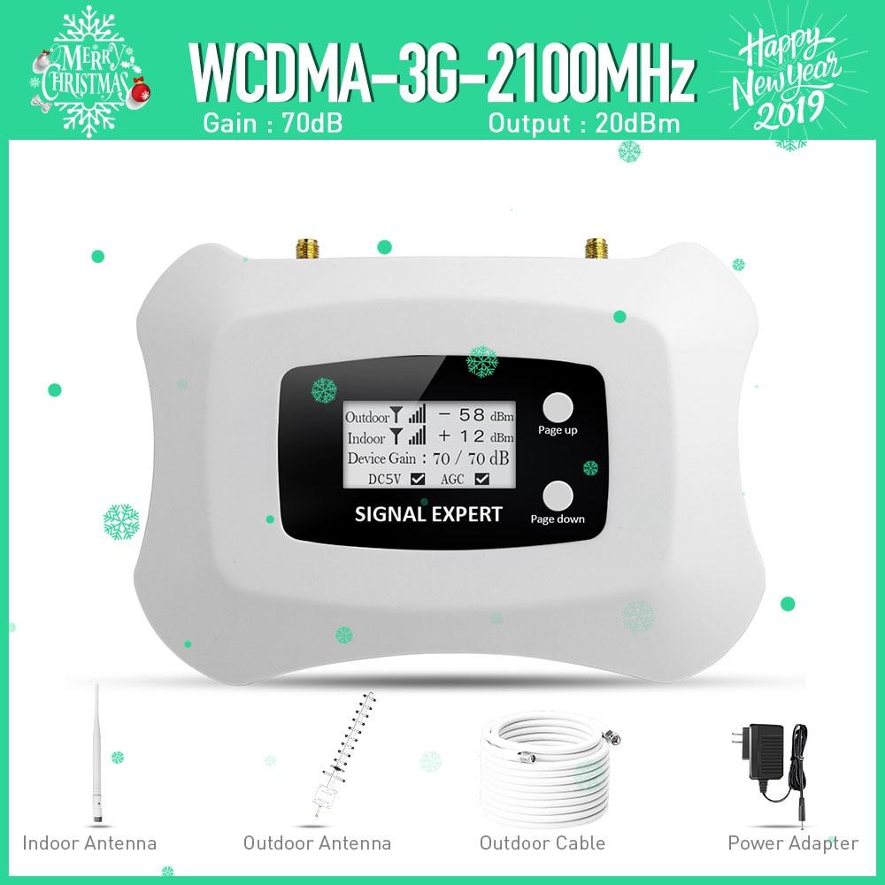 ¡Especialmente para Rusia! 3G repetidor 2100 MHz 3G teléfono celular amplificador con Yagi 3G celular señal kit de refuerzo