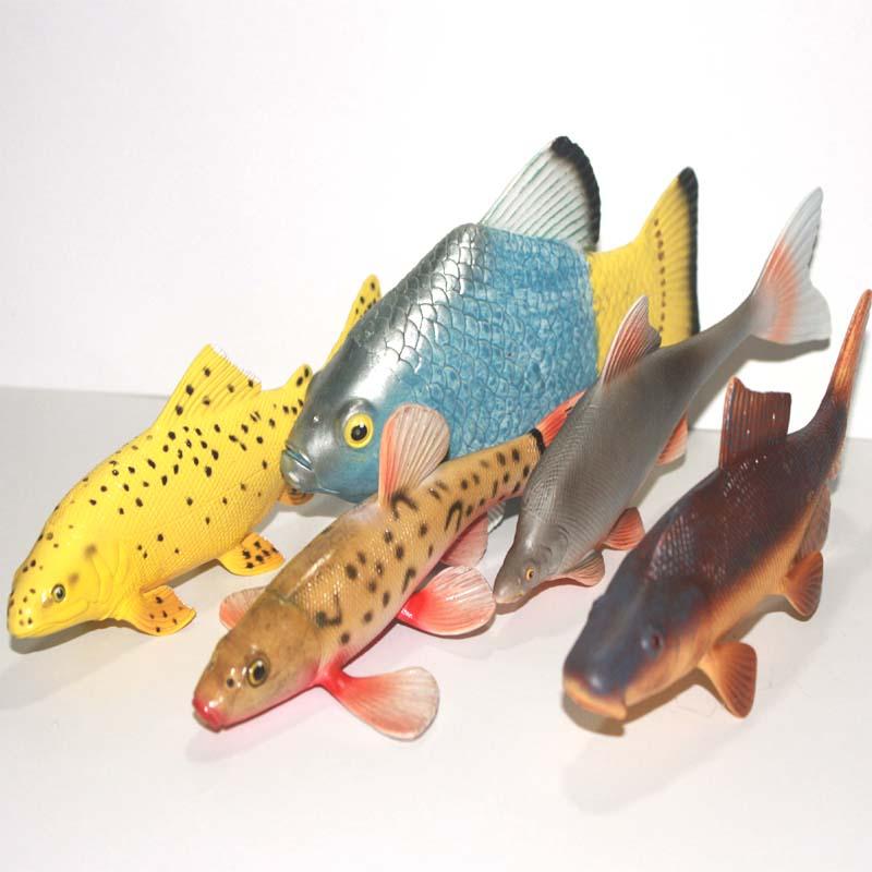 ФОТО PVC figure Doll model toyMarine model toys killifish salmon fish loach minnow 5pcs/set