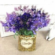 Silk flowers artificial flowers flower arrangement is an art that sitting room simulation take 10 head of lavender fields bonsai