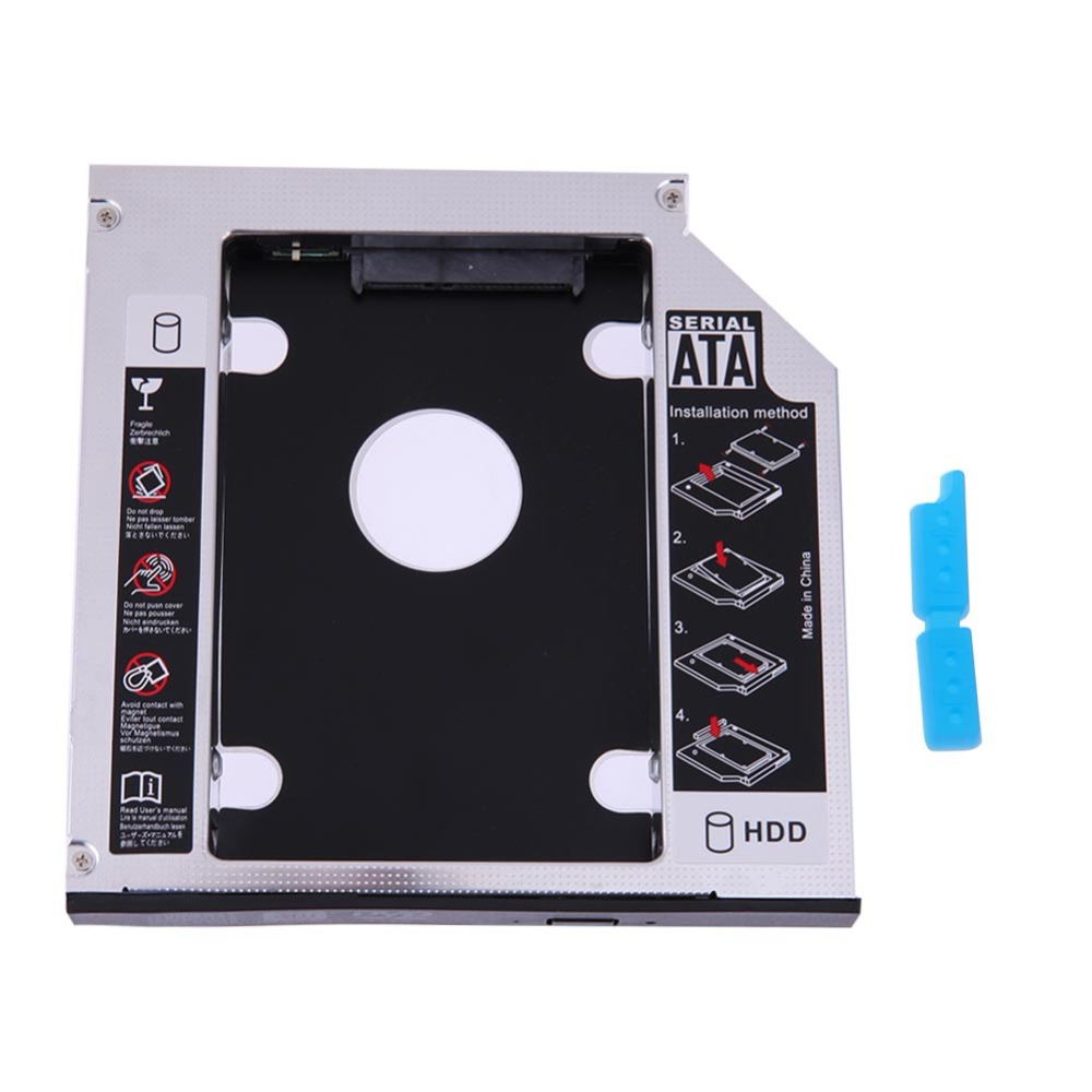 Universal Hard Drive Bay SATA 2nd HDD SSD Caddy 12.7/9.5mm 2.5