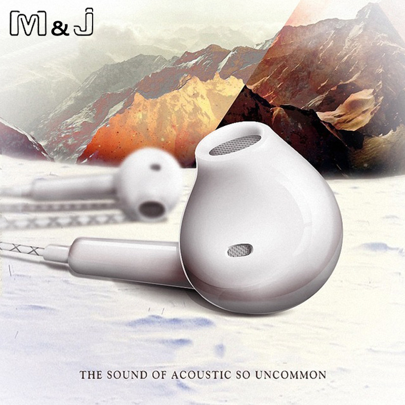 M&J with Mic supper bass Earphone in-Ear type headset headphone For iPhone Xiaomi SAMSUNG GALAXY S3 S4 Note3 Note 2 S7 N7100 mp3