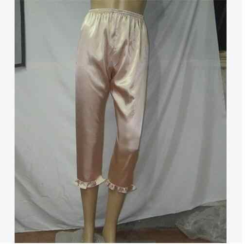 feca7d7685 ... Women s Lounge Pant 2017 Spring Summer Faux Silk Plus Size S-XXXL Pyjama  Trousers Sleep ...