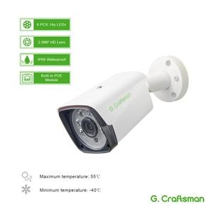 Image 2 - 4 канала 1080P POE Комплект H.265 система видеонаблюдения 8ch NVR 2.0MP наружная водонепроницаемая IP камера видеонаблюдения Сигнализация P2P G.Craftsman
