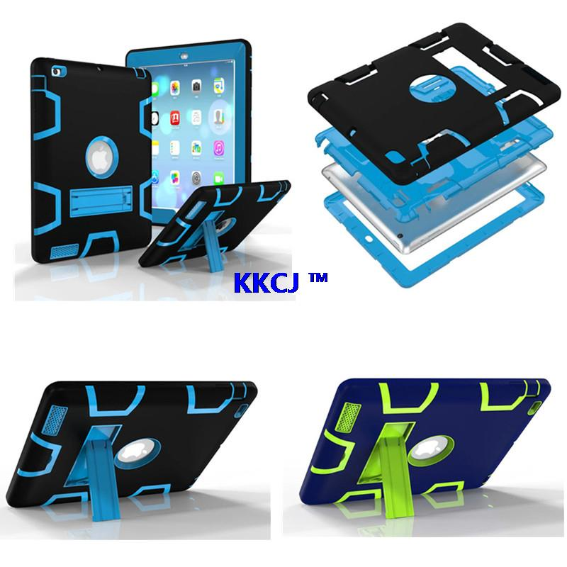 WES Hybrid Protective Case For iPad 2 3 4 Hard Plasic Silicon for iPad2 ipad3 ipad4 High Impact Combo Soft Heavy Duty Cover