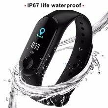 M3 Pulseira De Fitness Com a Cor da Tela IPS Esporte Relógio Inteligente Mulheres IP67 Rastreador Atividade de Oxigênio Pressão Arterial À Prova D' Água Para Os Homens
