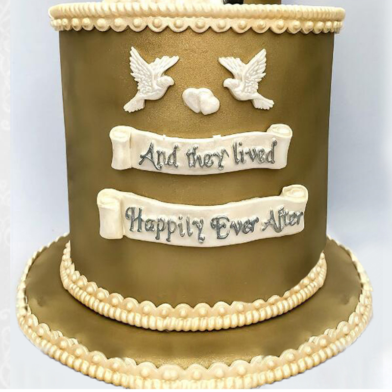 Aouke Happily Ever After Decorating Molds Cake Silicone Mold Sugarpaste Candy Chocolate Gumpaste Clay Mould K096 image