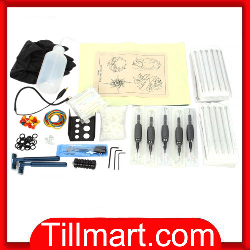 Free shipping on sale High quality Tattoo Kit Grips Tips 100 Needles