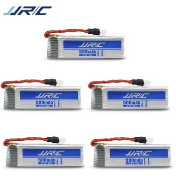 JJRC Brand 500mAh 3.7V li-po battery for JJRC H37 V966 V977 T37 X20 U815A U818 RC Quacopter Spare Parts Accessories 701855 5Pcs image