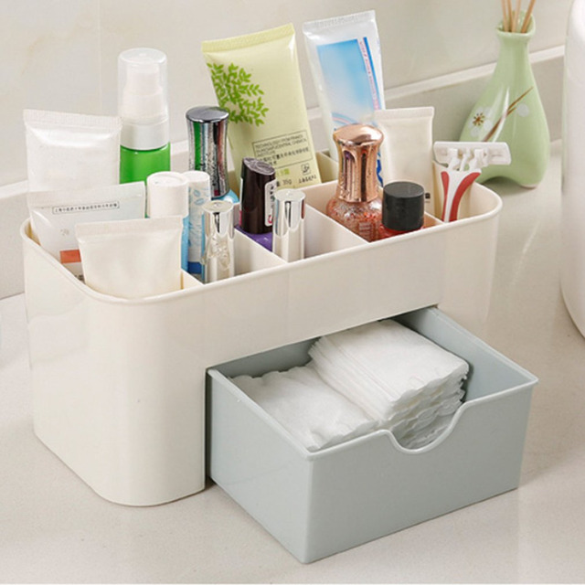 Desktop Makeup Organizer Plastic Storage Box Cosmetic Organizer Makeup Storage Case Cosmetics Holder Jewelry Box With & Desktop Makeup Organizer Plastic Storage Box Cosmetic Organizer ...