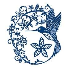 YaMinSanNiO Hummingbird Metal Cutting Dies New 2019 Flower Wreath Scrapbooking for Card Making Embossing Crafts Die Cut