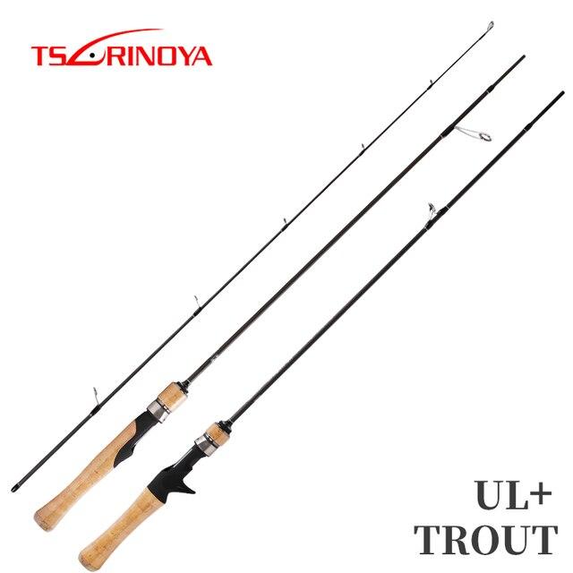 TSURINOYA Fishing Rod DRAGON 1.82m 1.52m UL Spinning Casting Lure Rod Soft Power Carbon Fishing Rod Trout