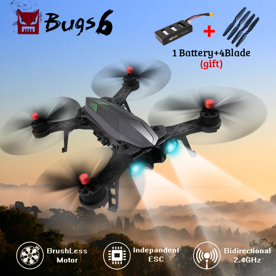 MJX Bugs 6 B6 Professional RC Drone Brushless Motor 2.4G 6-Axis RC Quadcopter WiFi Camera Real-Time Transmission RC Helicopter in stock mjx bugs 6 brushless c5830 camera 3d roll outdoor toy fpv racing drone black kids toys rtf rc quadcopter