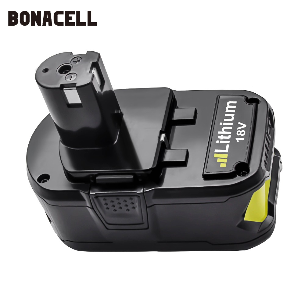 Image 2 - Bonacell 18V 4000mAh Li Ion P108 P 108 Rechargeable Battery For Ryobi Battery RB18L40 P2000 P310 for BIW180 L30-in Replacement Batteries from Consumer Electronics