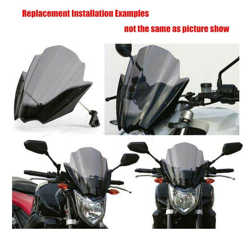 Motorcycle Street Bike Handlebars Windscreen Windshield For Yamaha