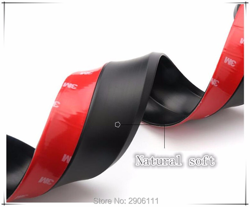 2.5M/8.2ft Universal Car Sticker Lip Skirt Protector for Peugeot 307 308 207 3008 2008 407 508 206 208 accessories car styling