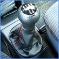 Para VW Golf 3 92-98 MK3/T4 91-04/Vento 92-98 Novo 5 velocidade de Deslocamento de Engrenagem Knob Com Bota De Couro Com Linha Vermelha 1H0711141A + 1H0711115A