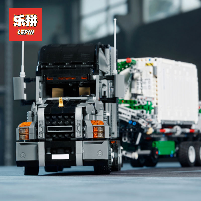 2018 New the Mack Big Truck Set Legoings Model Building Blocks Compatible 42078 Children Toys Lepin Technic 20076 City Truck lepin 20076 technic series the mack big