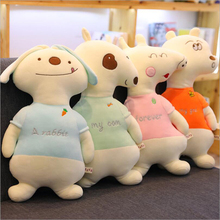 купить New Style Froest Animal Bear Rabbit Dog Pig Plush Toys Stuffed Doll Toy Soft Plush Pillow Children Birthday Gift по цене 1111.14 рублей