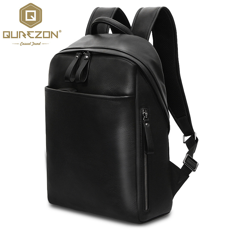 Fashion Women Men First Layter Cowhide Genuine Leather Backpack School Bag Travel Bookbag Casual 15'' Laptop Bags Men's Rucksack 14 15 15 6 inch flax linen laptop notebook backpack bags case school backpack for travel shopping climbing men women