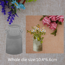 2019 New Arrival Flower Pot Cutting Dies Stencil DIY Scrapbook Embossing Decorative Paper Card Knife Mould Blade Craft 104x66mm 2019 new arrival lovely circle grass cutting dies stencil diy scrapbook embossing decorative paper card craft template 89x83mm