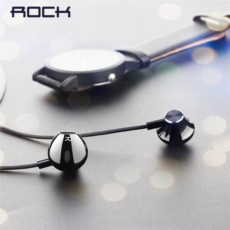 Rock Stereo Earphone In-ear Headset 3.5mm Phone Stereo Sound Headset for iPhone, SamSung,Huawei,Xiaomi and More Fone De Ouvido factory price led luminous in ear earphone glow stereo fone de ouvido headset for iphone drop shipping binmer