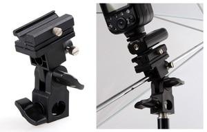 Image 3 - Camera Flash Light Hot Shoe Adapter with Umbrella Hole Tripod Light Stand Bracket Holder Mount SB600 580EX YN560 Speedlite (B)