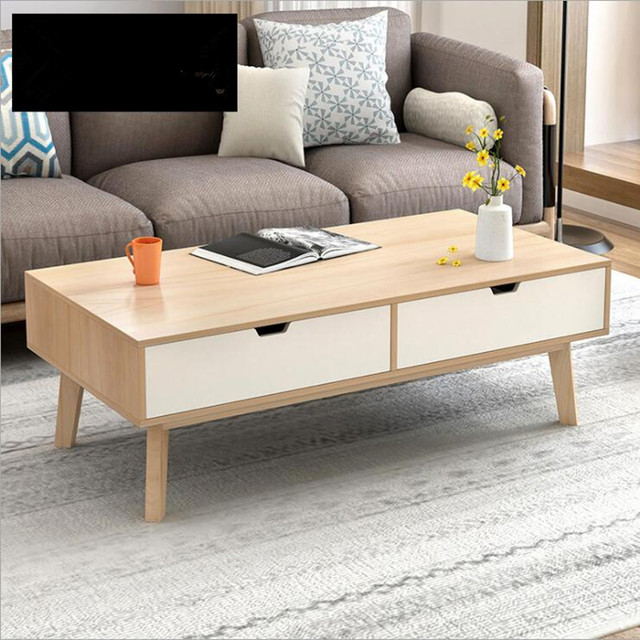 Nordic Wooden Coffee Table Living Room Furniture Multi Function Tea Table  Mesa De Centro Sala