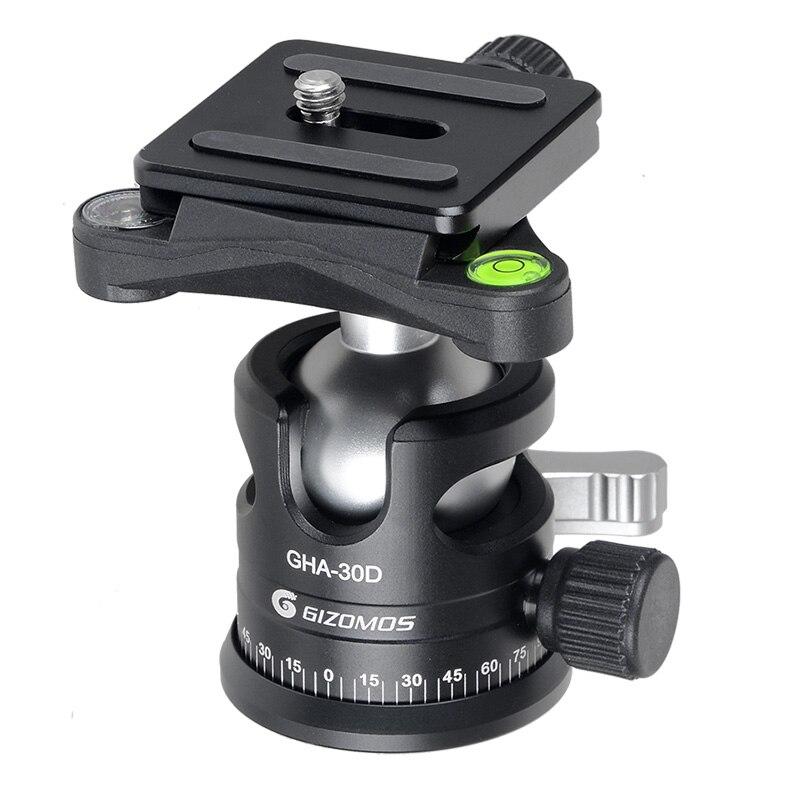 GIZOMOS GP-23C5 + GHA-30D Professionnel Portable Trépied En Fiber De Carbone et Rotule Pour Canon Sony Nikon - 2
