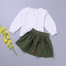 New Ruffles Baby Girls Dress Suits Harajuku Toddler Kids Bab