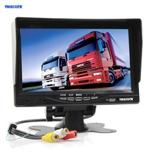 SMALUCK 7 inch TFT LCD Car Monitor Display Car Reverse Rear View Monitor Screen AV Input Remote Control With Sun Shade