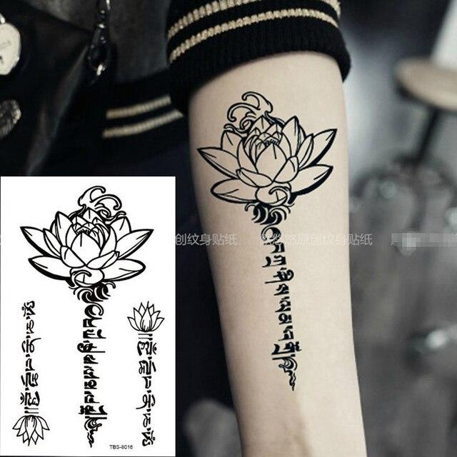 Waterproof Temporary Tattoo Mens Fire Tatoo Eagle Lotus Mandala Eye