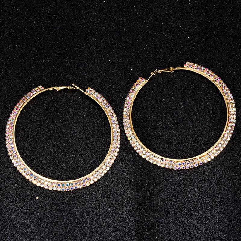 4433ecbe97 All kinds of cheap motor rhinestone earrings hoops in All B